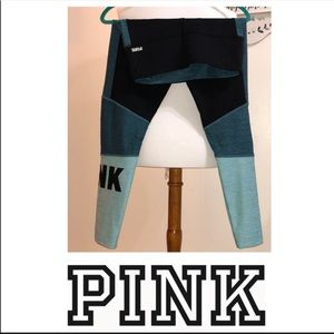 VS PINK Ultimate Leggings Teal Black Mint